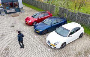 Alfa Romeo's vanuit de lucht gespot