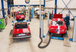 Dronebezoek bij Alfa Romeo Goedhart Arnold Hus